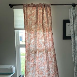 Paisley patterned curtains, two panels, 86x50in
